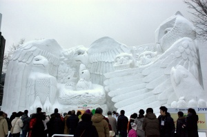 BIG snow sculpture