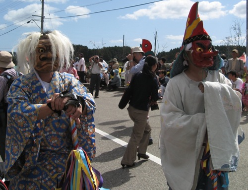 Okuma Kabuto Matsuri costumes. Photo by Leah Zoller.