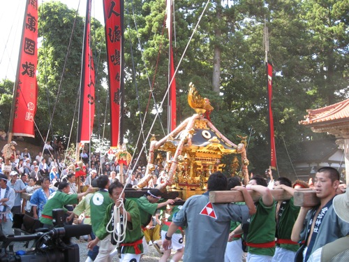 One of the 19 mikoshi