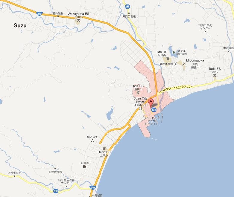 Iida-machi as seen from Google Maps