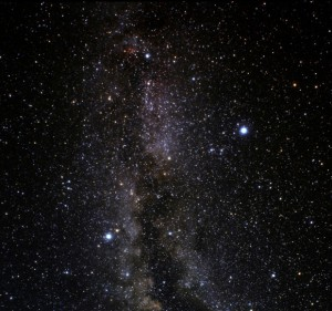 Altair and Vega, separated by the milky way. If your long distance relationship is shorter than 14.81 light years then I don't wanna hear you complaining.